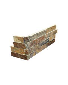 Slate Ledgestone Rustic Earth Splitface Corner