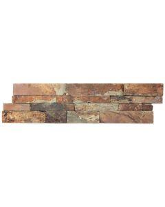 Slate Ledgestone Rustic Earth 6x24 Splitface