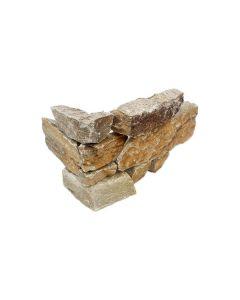 Stacked Stone Rusty Quartzite Splitface Corner