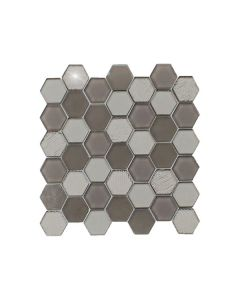 Stardust Dark Grey Hexagon