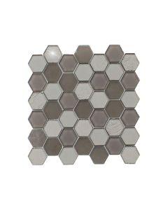 Stardust Dark Grey Hexagon
