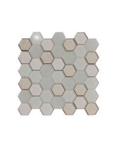 Stardust Light Grey Hexagon