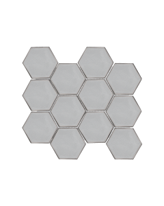 "Swiss Glass Platinum 3"" Hexagon Mosaic"