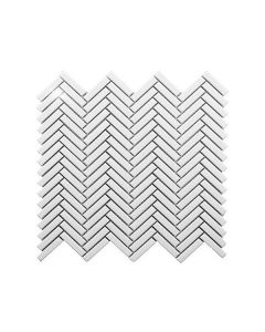 Color Collection White Bright Herringbone