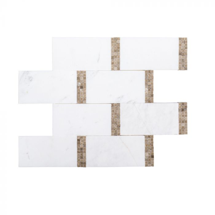 Jeffrey Court Subway Mosaic Empire Beige 9x8 75