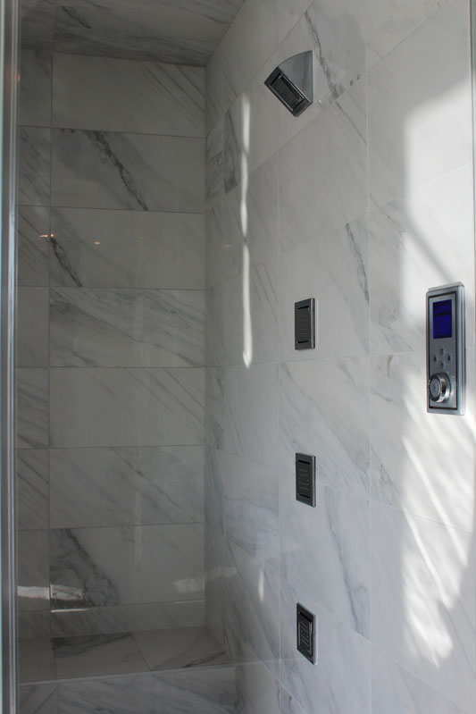 Bianco Carrara Porcelain Tile Installed Tile Stone Source