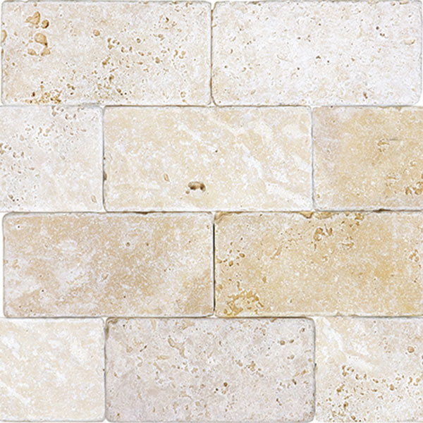 Ivory Tumbled 3x6 Travertine
