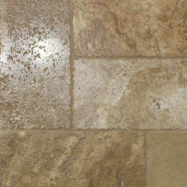 Mocha Cobblestone Travertine