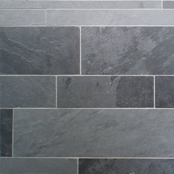 Lava Black Slate Strips Tile