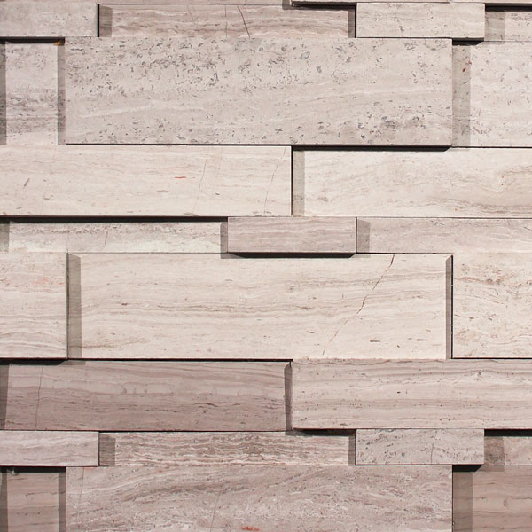 Wooden White Cubic Ledgestone