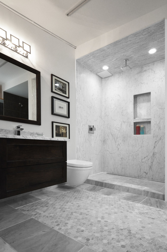 classic marble tile installed tile stone source rh tilestonesource com Marble Bathroom Countertops marble counters in a bathroom