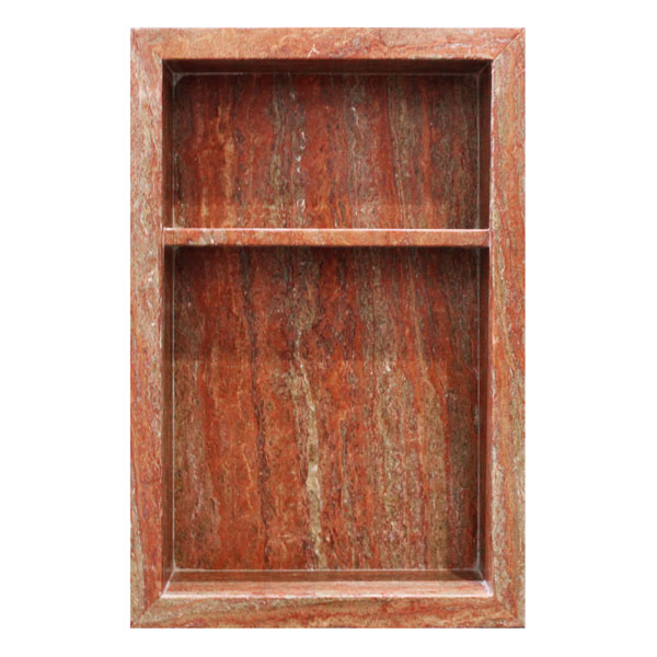 Red Travertine Niche