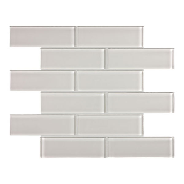 Element mist 2x6 glass mosaic tile