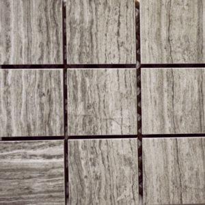 Imitation Marble Grey Veincut 2 x 2 Porcelain Mosaic Tile