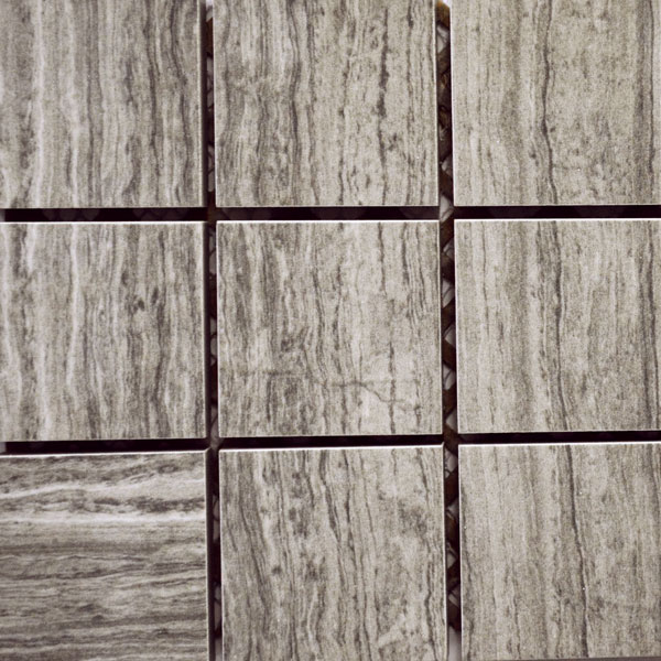 Imitation Marble Grey Veincut 2 x 2 Porcelain Mosaic Tile