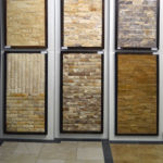 Splitface sample boards in the Stone Source - Tile Source International Showroom