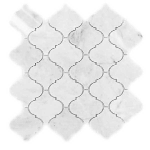 Bianco Carrara Lanterns Marble Mosaic