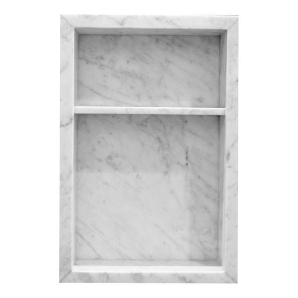 Bianco Carrara Bolder Stone Panel Niche