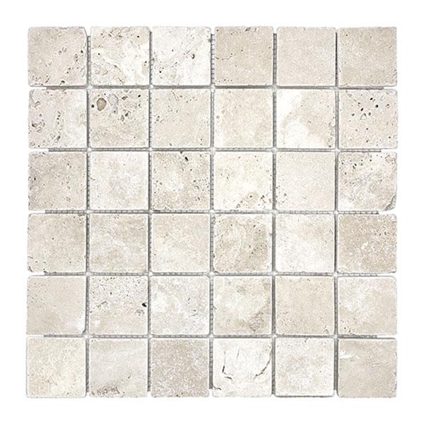 Ivory Tumbled 2x2 mosaic