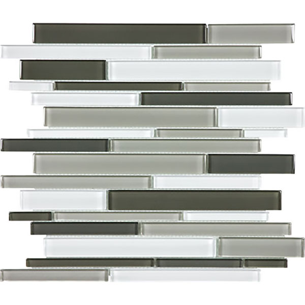 Element Mineral Random Strip Glass Mosaic