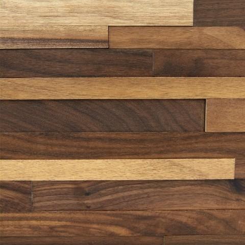 Classic Walnut 3D Wood Wall Panelling