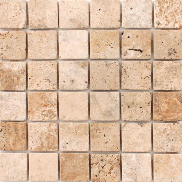 Albertino Travertine 2x2 mosaic
