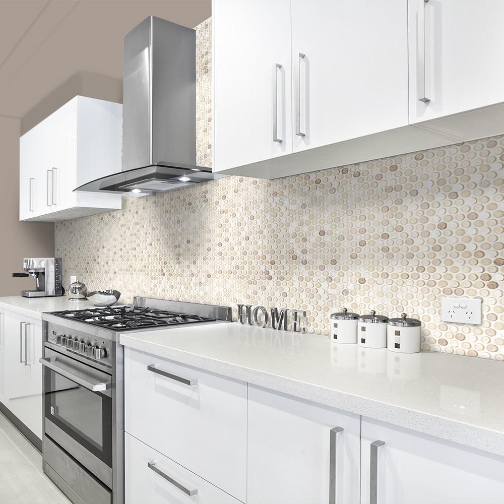 Penny Round Tile Kitchen Floor - Tile Designs
