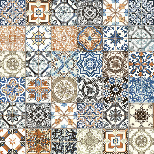 Marrakesh Color Mix Glossy ceramic tile