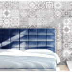 Marrakesh Grey tile install in a bedroom