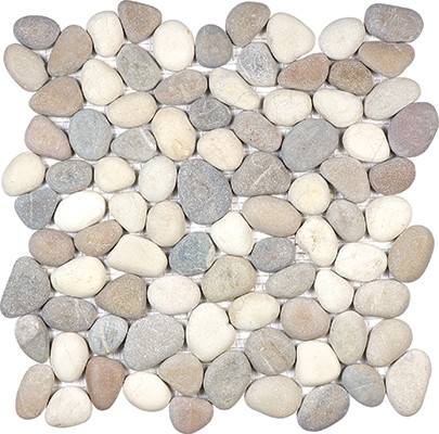 Harmony Warm Blend Tumbled Stone Pebble Mosaics_l