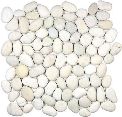Serenity Ivory Tumbled Pebble Stone Mosaic
