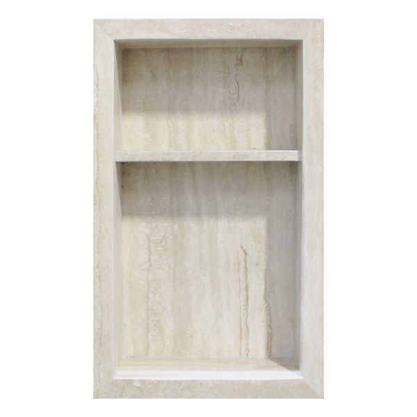 Classic Ivory Travertine Stone Niche