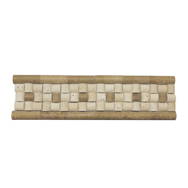 Ivory inside Mocha outside Roman Border Tile
