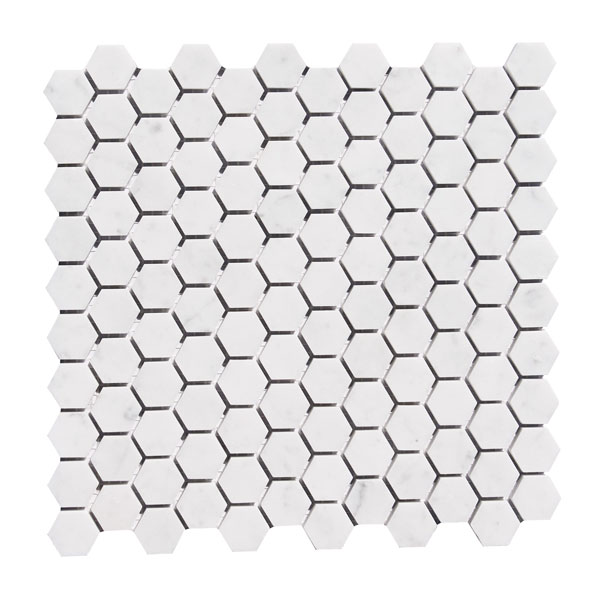 Bianco Carrara 1 inch Hexagon Mosaic