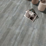 Aura Carbon Porcelain Tile installed