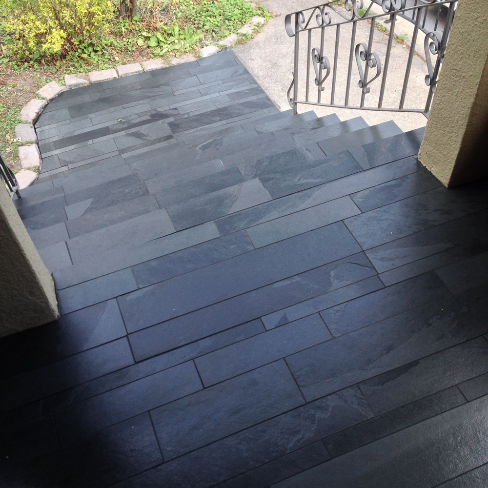 Lava Black Large Strips - Tile Stone Source