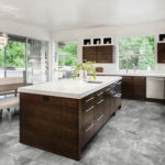 Regency Carbon Porcelain Tile installed in a kitchen