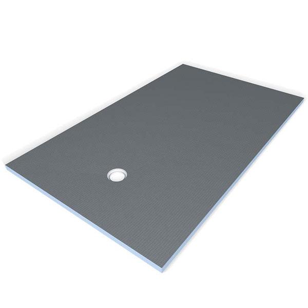 wedi fundo primo 3 39 x6 39 base only offset drain tile stone source. Black Bedroom Furniture Sets. Home Design Ideas
