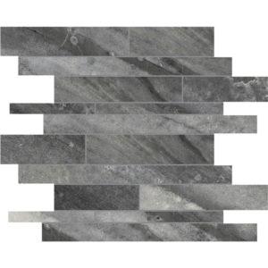Evolution Carbon Random Strip Porcelain Mosaic