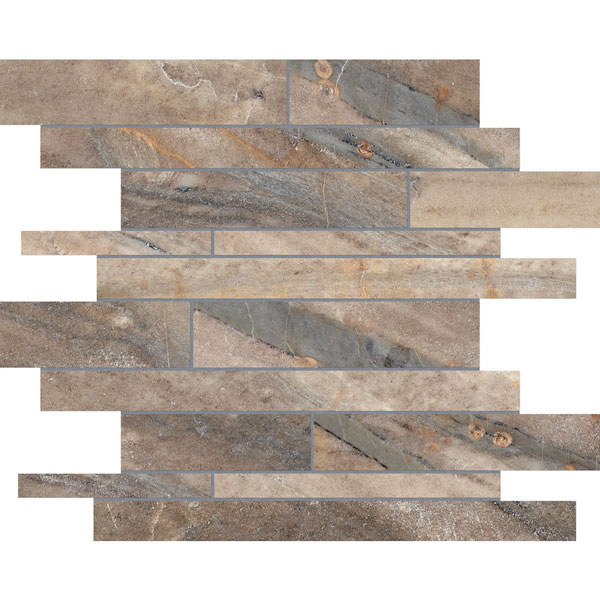 Evolution Earth Random Strip Porcelain Mosaic