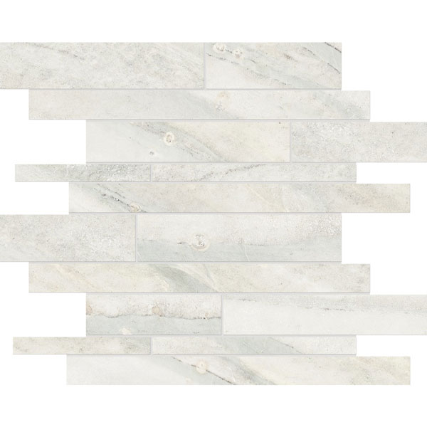 Evolution Ice Random Strip Porcelain Mosaic