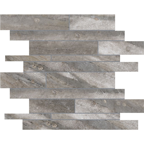 Evolution Mica Random Strip Porcelain Mosaic