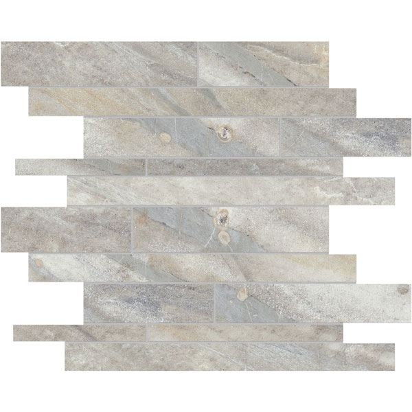 Evolution Sand Random Strip Porcelain Mosaic