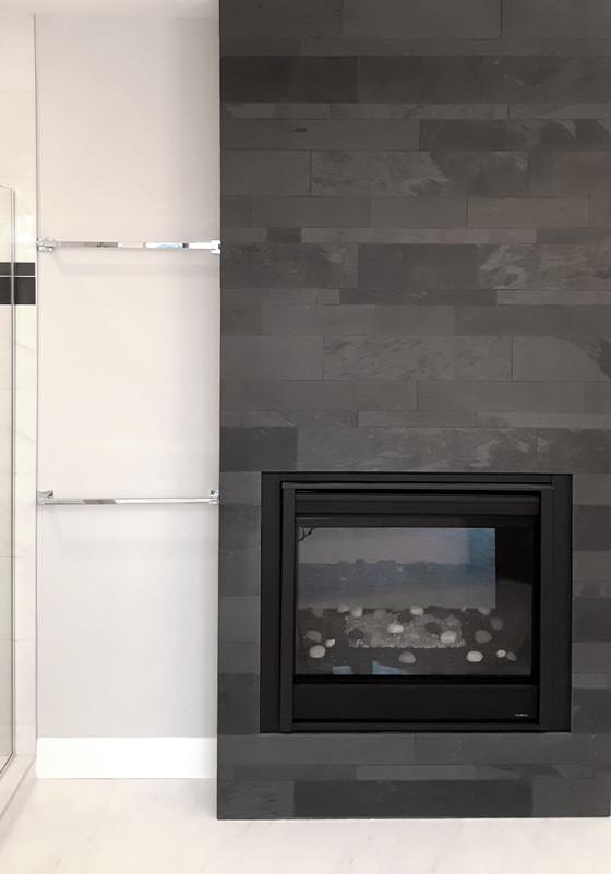 Lava Black Large Strips Tile Stone Source