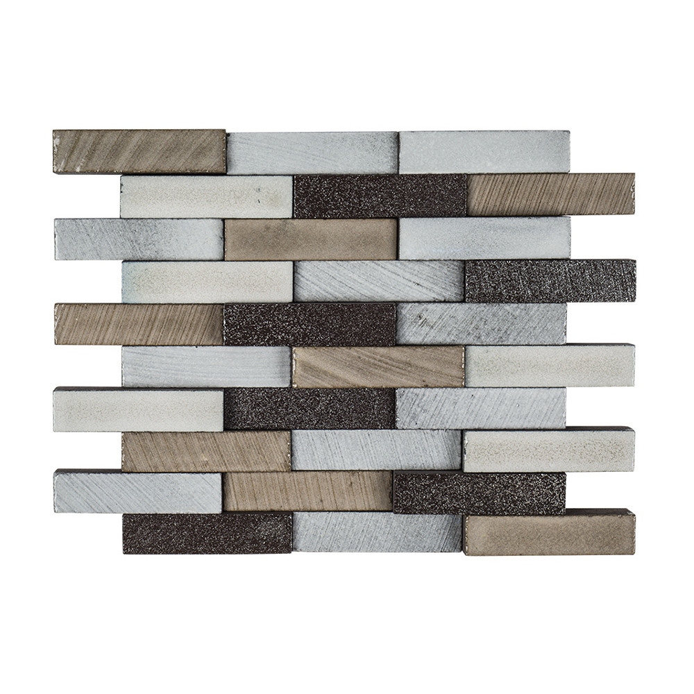 Elevation Reclaimed Wood : Jeffrey court elevation brick mosaic reclaimed tile