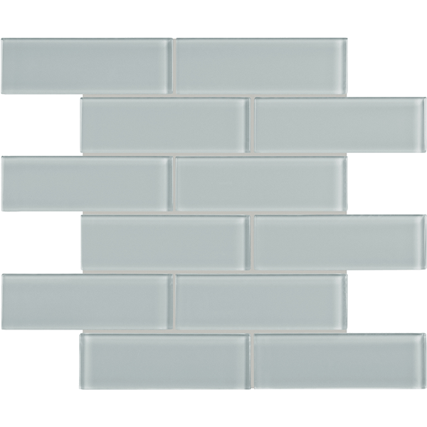 Element Cloud 2x6 Brick Glass Tile Mosaic