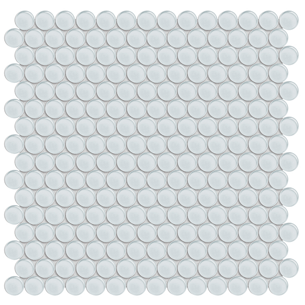 Element Ice Glass Penny Round Mosaic