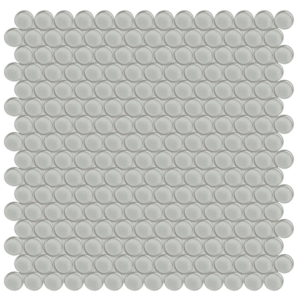 Element Mist Glass Penny Round Mosaic