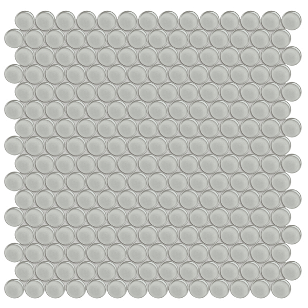 Element Mist Glass Penny Round Mosaic
