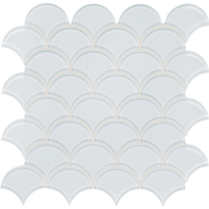 Element Ice Glass Tile Scallop Mosaic